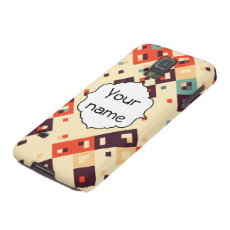 Squares in retro colors abstract design galaxy s5 cover
