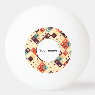 Squares in retro colors abstract design ping pong ball