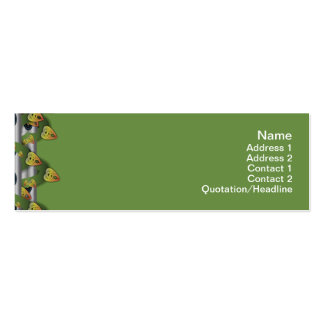 Squares Inverted Double-Sided Mini Business Cards (Pack Of 20)