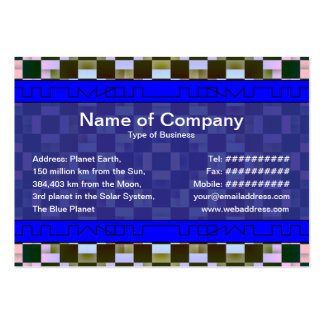Squares Inverted Large Business Cards (Pack Of 100)