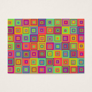 Squares Pattern Business Card