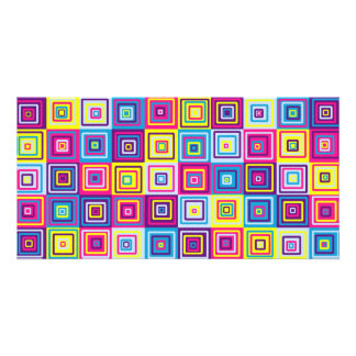 Squares Pattern Photo Card