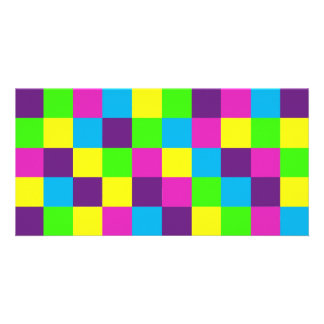 Squares Pattern Photo Cards
