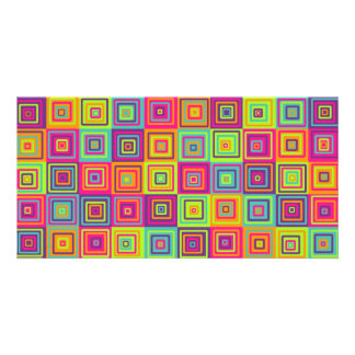 Squares Pattern Photo Greeting Card