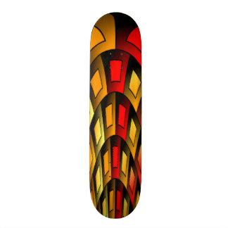 Squares pattern skate deck