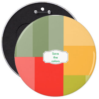 Squares&rectangles 6 Inch Round Button