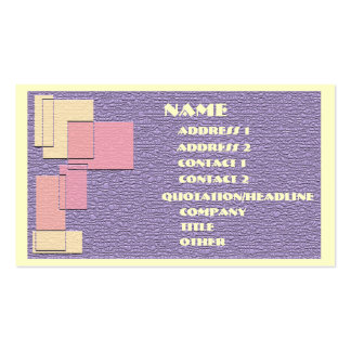 Squares & Rectangles Business Card