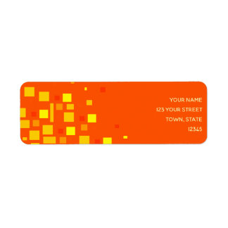Squares Vibrant Orange Yellow Geometric Neon Cool