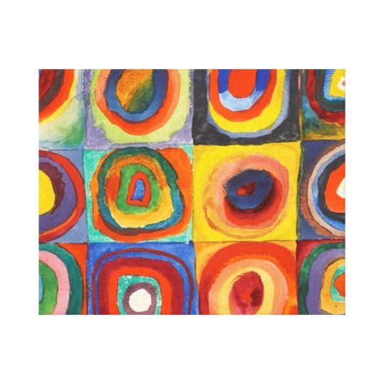 Squares with Concentric Circles by Kandinsky Canvas Print