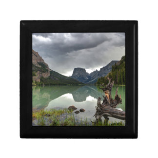 Squaretop Mountain Reflected In Upper Green River Trinket Box