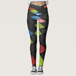 squaring geometric abstract Color Leggings