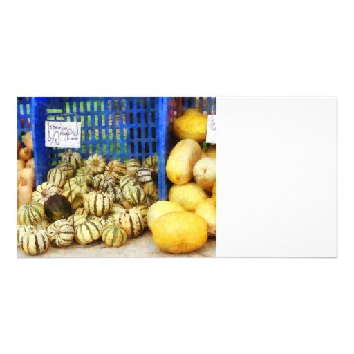 Squash at Farmer's Market Custom Photo Card