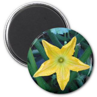 Squash Blossom 2 Inch Round Magnet