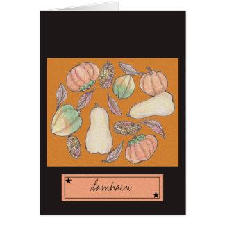 Squash Bounty Samhain October 31 Orange Card