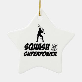 squash is my superpower ceramic ornament