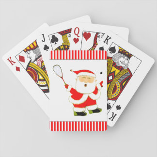 squash player Christmas Playing Cards