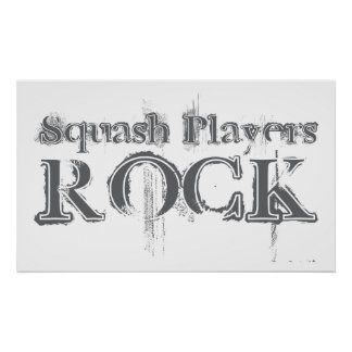 Squash Players Rock Poster