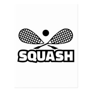 Squash Postcard