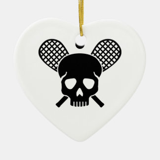 Squash skull ceramic ornament