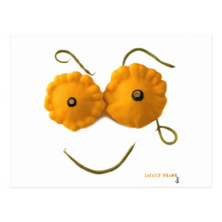 Squash Smiley Face Postcard