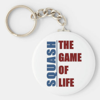 Squash the game of life basic round button keychain