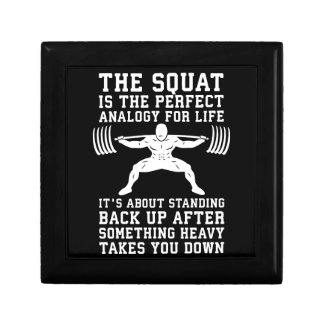 Squat Analogy For Life - Leg Day Inspirational Gift Box
