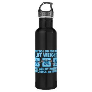 Squat, Bench Press, Deadlift - Hobbies - Kawaii 710 Ml Water Bottle