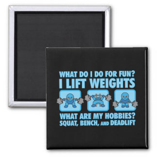 Squat, Bench Press, Deadlift - Hobbies - Kawaii Magnet
