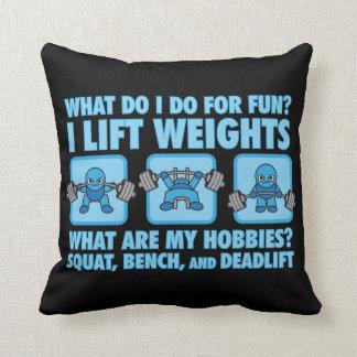 Squat, Bench Press, Deadlift - Hobbies - Kawaii Throw Pillow