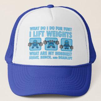 Squat, Bench Press, Deadlift - Hobbies - Kawaii Trucker Hat