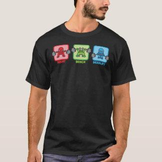 Squat, Bench Press, Deadlift - Kawaii Powerlifter T-Shirt