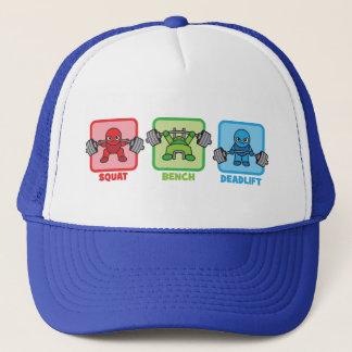 Squat, Bench Press, Deadlift - Kawaii Powerlifter Trucker Hat