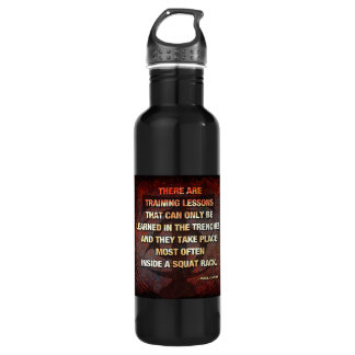 Squat Rack Trenches - Gym Workout Inspirational 710 Ml Water Bottle
