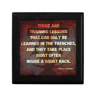 Squat Rack Trenches - Gym Workout Inspirational Gift Box