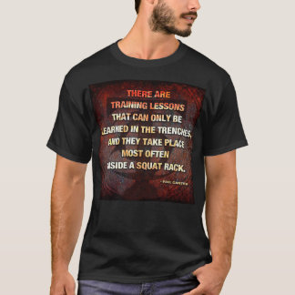 Squat Rack Trenches - Gym Workout Inspirational T-Shirt