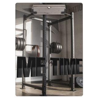 Squat Rack Workout Motivation - Me Time - Gym Clipboard