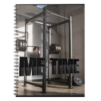 Squat Rack Workout Motivation - Me Time - Gym Notebooks