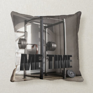 Squat Rack Workout Motivation - Me Time - Gym Throw Pillow