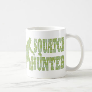 Squatch hunter on camouflage coffee mug