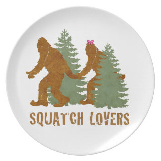 Squatch Lovers Dinner Plates