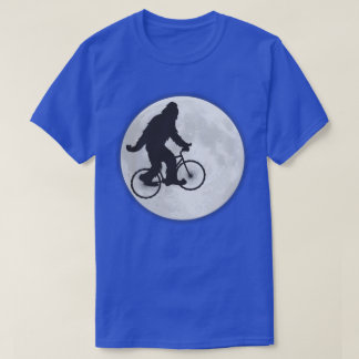 Squatch on a Bike In Sky With Moon T-shirt