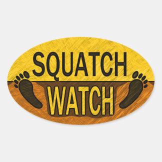 Squatch Watch Oval Sticker