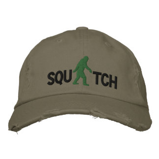 Squatch  with large bigfoot logo baseball cap