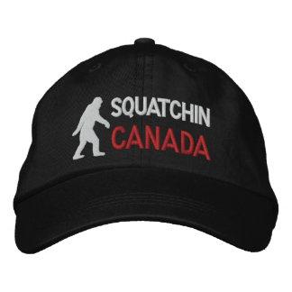 Squatchin canada baseball cap