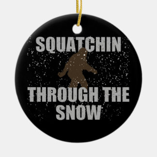 Squatchin Through The Snow Sasquatch Ornament
