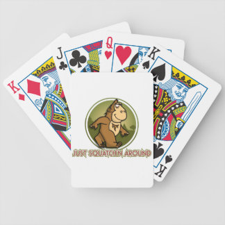 SQUATCHN AROUND BICYCLE PLAYING CARDS