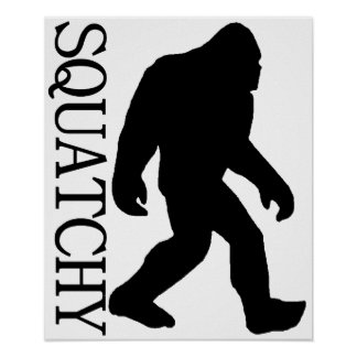 SQUATCHY SILHOUETTE Shirt - Special *BFRO* Edition Poster