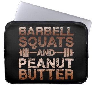 Squats and Peanut Butter - Bodybuliding Motivation Laptop Sleeve