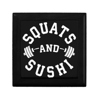Squats and Sushi - Carbs and Leg Day - Funny Gym Gift Box