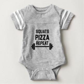 Squats Pizza Repeat Baby Bodysuit